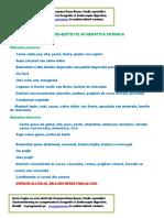 Regim Igieno - Dietetic Hepatita Cronica