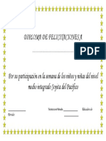 Diploma de Felicitaciones 32