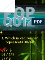 Math Pop Quiz