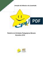 Relatório Mensal- E.I. Novembro