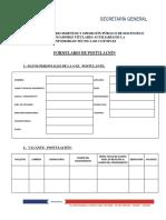 Formulario postulación docente