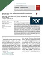 Interoperability issues on heterogeneous wireless communication for smart cities