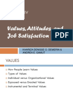 GRP. 3 - Values, Attitudes and Job Satisfaction