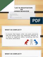 GRP. 11 - Conflict & Negotiation on Human Behavior