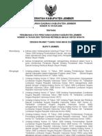 Peraturan Daerah Kabupaten Jember Nomor 10 Tahun 2006 Tentang Perubahan Atas Peraturan Daerah Kabupaten Jember Nomor 14 Tahun 2003 Tentang Retribusi Masuk Obyek Wisata