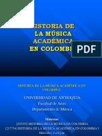 Resumen - U. de a. Historia de La Música en Colombia