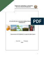 Situacion de Biocombustibles en Paraguay 2006