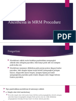 Anesthesia in MRM