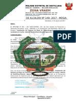 RESOLUCION DE ALCALDIA N°149-2017- APROBACION DE EXPEDIENTE TECNICO  CMAN CCACHIR ok