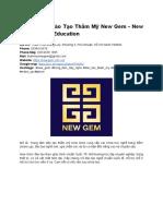Porfolio Trung Tâm Đào Tạo Thẩm Mỹ New Gem - New Gem Beauty Education