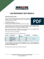 Clat Mock-8 q 1-200