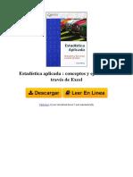 Estadstica Aplicada Conceptos y Ejercicios a Traves de Excel