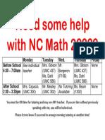 math 2 tutoring schedule spring19