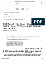 GST Rates & HSN Codes - GST Tax Rate & SAC Codes in India for 2019