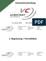 111. Generalversammlung VC Leibstadt