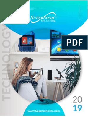 Dual USB//Micro-SD//FM//AUX Supersonic IQ-223BT Bluetooth Wireless FM Transmitter