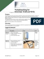 Objet Eden Application Guide - Photobleaching VeroClear