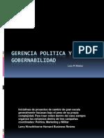 Gerencia Política y  Gobernabilidad