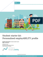 Developing EmployABILITY Report Sample Student