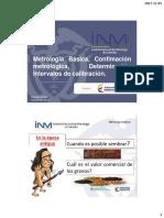 INM Metrología Confirmación Calibración