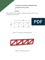 Dimensionamento de Treliça Utilizando o Programa STRAP Aluno Lucas