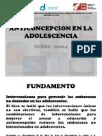 Anticoncepcion en La Adolescencia Cemse