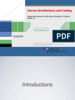 OWASP AU Secure Architecture and Coding