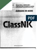 ClassNKK Parte I - Reglas Para La Inspección y Construcción de Barcazas de Acero.