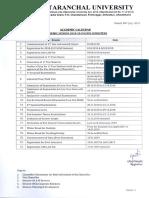 Academic Calendar 2018 19 Odd Semester