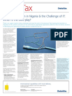 Ng Tax Administration in Nigeria and the Challenge of IT