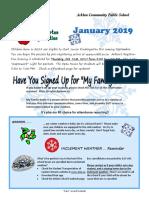 Arklan School January 2019 Newsletter