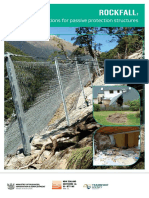 Rockfall Design Considerations for Passive Protection Structures