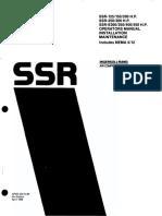 Ssr-125 Ssr-150 Ssr-200 Ssr-250 Ssr-300 Ssr-e300 Ssr-e350 Ssr-e400 Ssr-e450 Operators Manual Installation Maintenance Includes Nema 4-12 125-200 Ops d '89