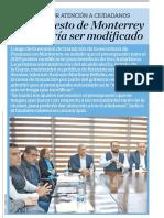 12-01-19 Presupuesto de Monterrey aún podría ser modificado