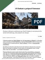 Comment Cherif Chekatt a préparé l'attentat de Strasbourg