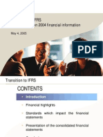 Transition to IFRS 1