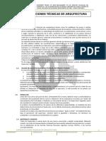 Especificaciones tecnicas de arquitectura - juliaca