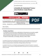 Clase 1_ ¿Qué Es La Gestión de Contratos_ Curso_ Gestión de Contratos Profesor_ Juan Flores _ La Tercera