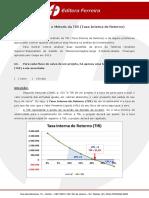BISCHOFF - Problemas com o Método da TIR (Taxa Interna de Retorno).