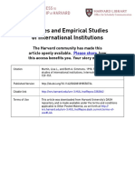 Theories and Empirical Studies of International Institutions