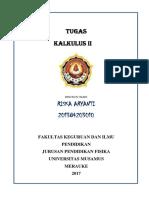 Tugas Kalkulus 11 Nama Riska 201384203010