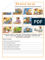 Chores Icebreakers Oneonone Activities Picture Dictionary