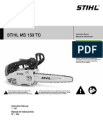 Stihl Ms 150 Tc Owners Instruction Manual