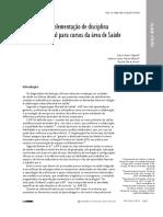 Trajetória e implementação de disciplina interprofissional para cursos da área de Saúde