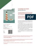 Ficha de 'Cuaderno de Faros' de Jazmina Barrera