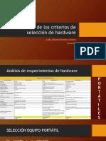 Socialización de Los Criterios de Selección de Hardware