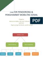 Faktor Pendorong & Penghambat Mobilitas Sosial Ips
