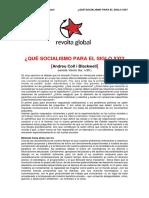¿QueSocialismoPara ElSigloXXI