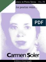 Cuaderno de Poesia Critica n 070 Carmen Soler