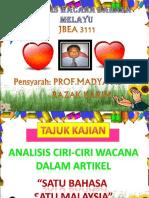 Analisis Wacana Bahasa Melayu